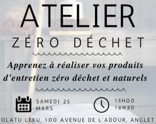 Le premier atelier «Produits d'entretien zéro déchet et naturels»