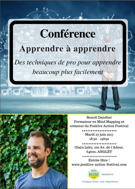 Conference Apprendre a apprendre Positive Action Festival