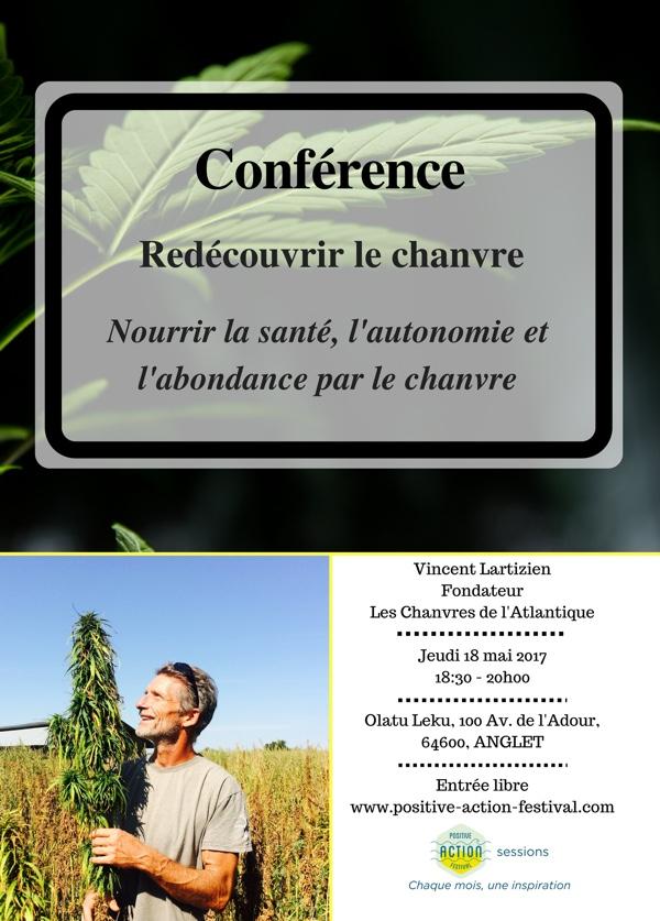 On line Conférence de Vincent Lartizien - redécouvrir le chanvre - Positive Action Festival