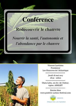 Site - Conférence de Vincent Lartizien - redécouvrir le chanvre - Positive Action Festival